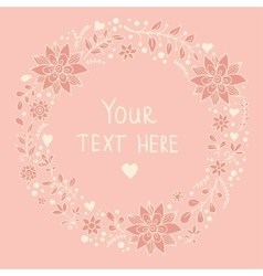 Floral card in pink colors vector image