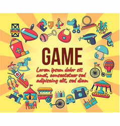 game concept banner cartoon style vector image