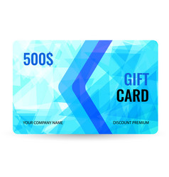 gift card bright design with light blue background vector image