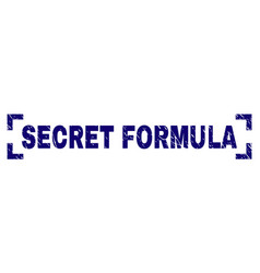 Grunge textured secret formula stamp seal between vector