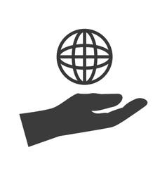hand icon design vector image