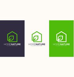 Home nature logo design vector