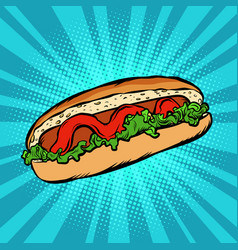 hot dog salad ketchup vector image