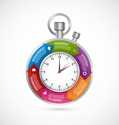 Infographics design template Stopwatch with a vector image