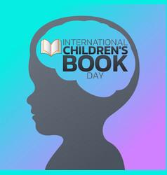 international children book day logo icon design vector image