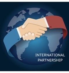 International Partnership Icon Businessman vector