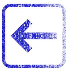 Left arrow framed textured icon vector