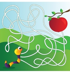 Maze Labyrinth education Game for Children vector image