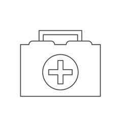 Medical kit of medical care design vector