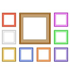 modern frame square vector image