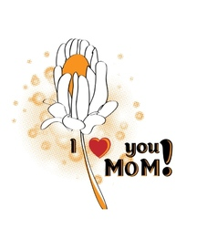 Mothers Day greeting vector