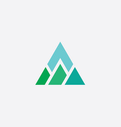Mountain triangle logo icon element vector