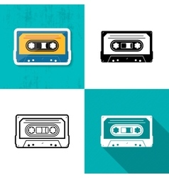 Music cassette tape icon vector