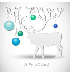 New year card with Christmas Reindeer vector image