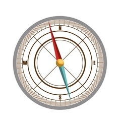 Orienteering theme design isolated icon vector