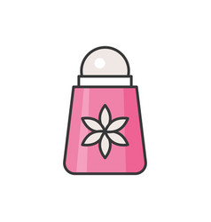 Roll on deodorant filled outline icon vector