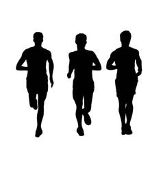 Runner silhouettes vector
