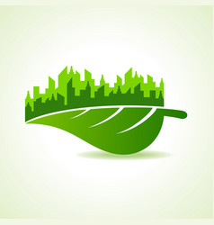 save nature and ecology concept with eco cityscape vector image