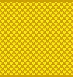 seamless golden heart pattern background - love vector image