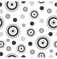 Seamless pattern with black evil eye vector