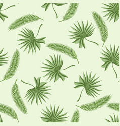 seamless pattern with two kinds of palm branches vector image