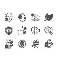 set medical icons such as mint bag skin vector image