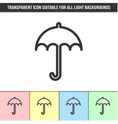 simple outline transparent umbrella icon vector image