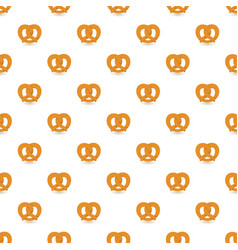 Soft pretzel pattern seamless vector