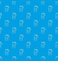 sprayer container pattern seamless blue vector image