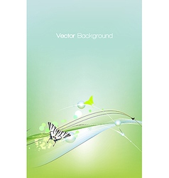 Spring card background vector