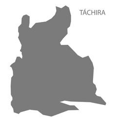 Tachira venezuela map grey vector