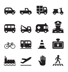 Traffic icon set 2 vector