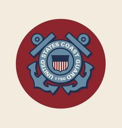 United states coast guard vector