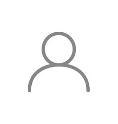 User profile line icon web avatar employee vector