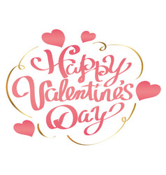 valentines day logo or icon on white background vector image