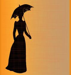 Victorian lady vector