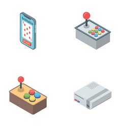 Video game icons vector