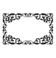 vintage baroque ornament vector image