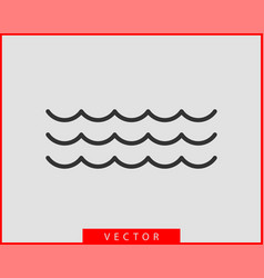 waves design water wave icon wavy lines isolated vector image