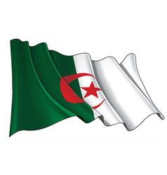 Waving flag algeria vector