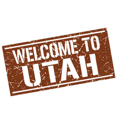 Welcome to utah stamp vector