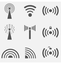 WiFi Icon Set vector image