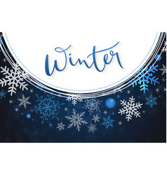 winter banner template with vector image