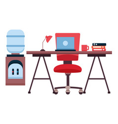 workplace office furniture vector image