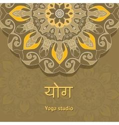 Yoga studio template Yoga studio flyer vector image