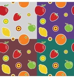 fruit colored pattern vector image vector image