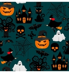 Halloween crafts wrapping seamless pattern vector image