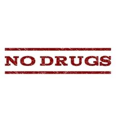 No drugs watermark stamp vector
