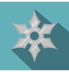 Shuriken weapon icon flat style vector image