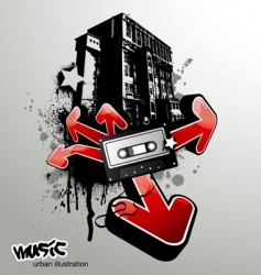 urban music illustration vector image vector image